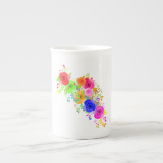 Abstract Roses Tea Cup