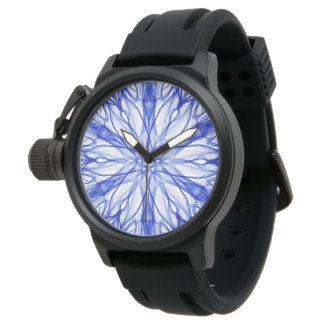 Abstract Royal Blue Fractal Watch