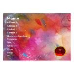 ABSTRACT RUBY,bright red gem blue pink Pack Of Chubby Business Cards