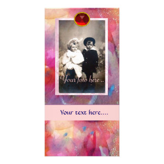 ABSTRACT RUBY PICTURE CARD