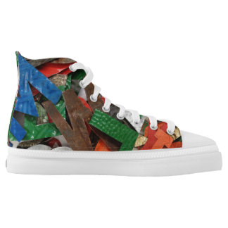 Abstract Rusted Metal Letters Printed Shoes