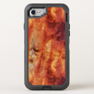 Abstract Rusty Reds and Oranges OtterBox Defender iPhone 7 Case