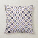 Abstract Safari Geometric Pattern Cobalt Brown Cushion