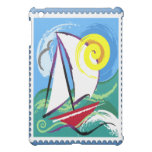 Abstract Sailboat and Sun Stamp Case For The iPad Mini