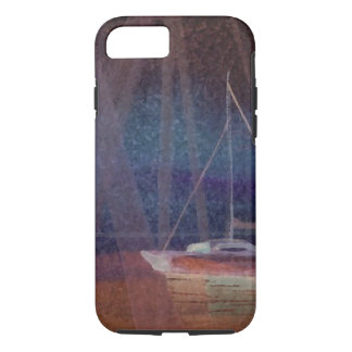 Abstract Sailboat Sailing Art iPhone 7 Case