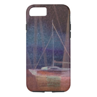 Abstract Sailboat Sailing Art iPhone 7 Case 2