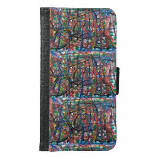 Abstract Samsung Galaxy S6 Wallet Case