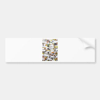 Abstract Satellite View of New York City Bumper Sticker