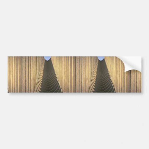 Abstract Saudi arches Bumper Stickers