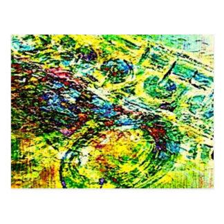 abstract SAx Postcard