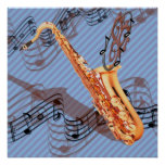 Abstract Saxophone Poster