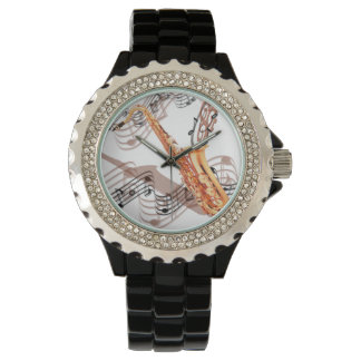 Abstract Saxophone Watch
