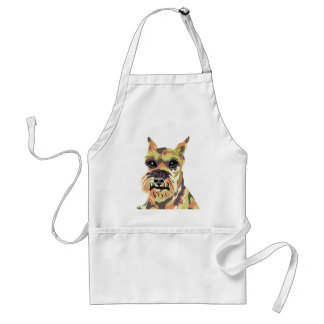 Abstract Schnauzer Aprons