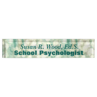 Abstract School Psychologist Custom Nameplate