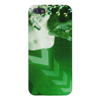 Abstract Science Background with Atomic Research iPhone 5/5S Covers