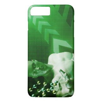 Abstract Science Background with Atomic Research iPhone 7 Plus Case