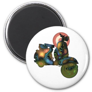 abstract scooter 2 refrigerator magnets