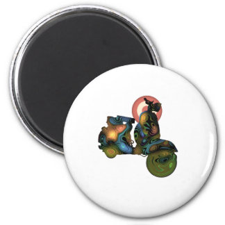 abstract scooter 2 magnet