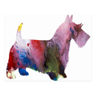 Abstract Scottish Terrier silhouette Postcard