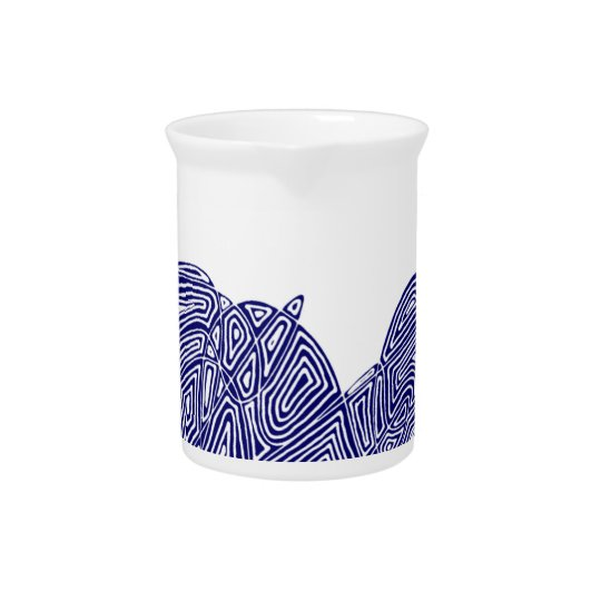 Abstract Scribbleprint Pitcher