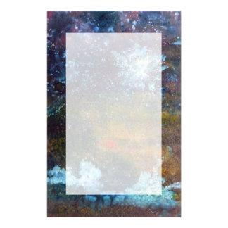 Abstract Sea at Night Custom Stationery