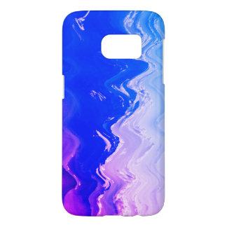 Abstract sea  beach waves blue purple surf