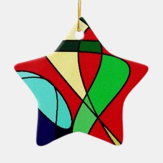 Abstract Sea Bird Sun Art Christmas Ornament