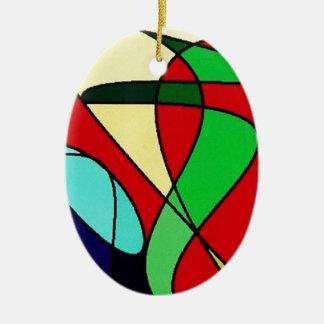 Abstract Sea Bird Sun Art Ornaments