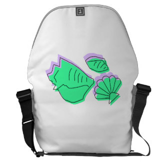 Abstract Sea Shells Courier Bag