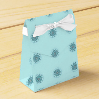 Abstract seafoam favour box
