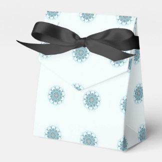 abstract seafoam white background wedding favour box