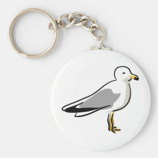 Abstract Seagull Key Ring