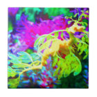 Abstract Seahorse Tile
