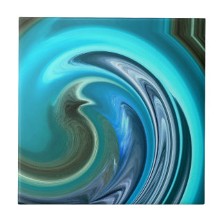 Abstract Seahorse Tile
