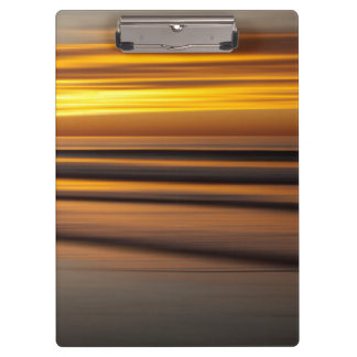 Abstract seascape at sunset, CA Clipboard