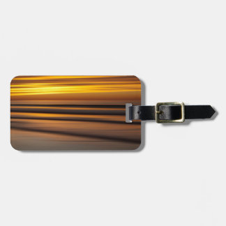 Abstract seascape at sunset, CA Luggage Tag