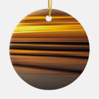 Abstract seascape at sunset, CA Round Ceramic Decoration