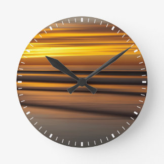 Abstract seascape at sunset, CA Round Clock