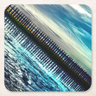 Abstract seaside beach coaster