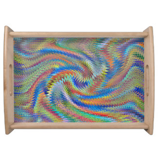 abstract sering tray