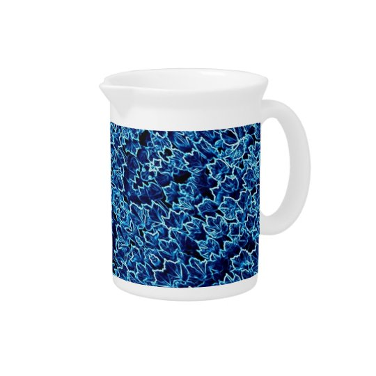 Abstract shades of blue pitcher