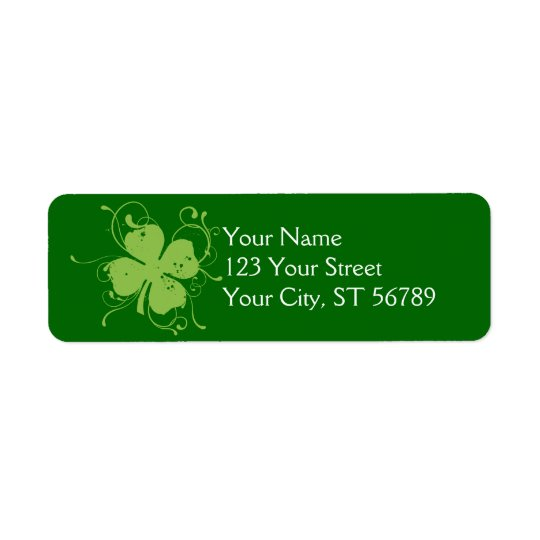 Abstract Shamrock Label