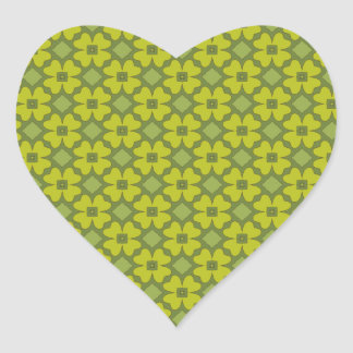 Abstract Shamrocks Heart Sticker