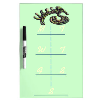Abstract Shape Weekly Dry Erase Dry Erase Board