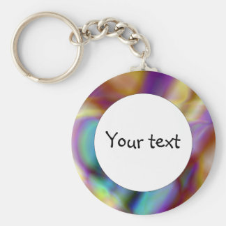 Abstract shapes basic round button key ring