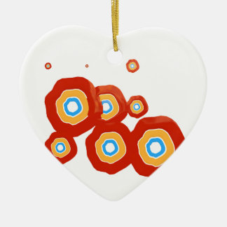 Abstract shapes ceramic heart decoration