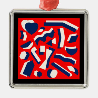 Abstract Shapes Christmas Ornament
