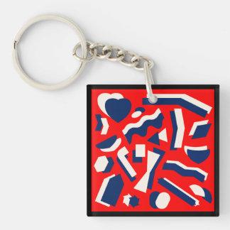 Abstract Shapes Key Ring