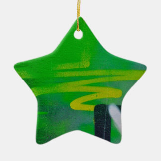 abstract shapes paint background ceramic star decoration
