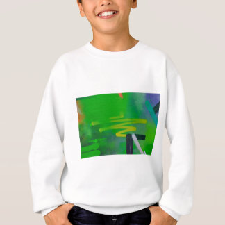 abstract shapes paint background sweatshirt